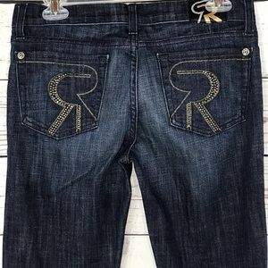 Rock & Republic Jeans Embellished Whiskered Flare